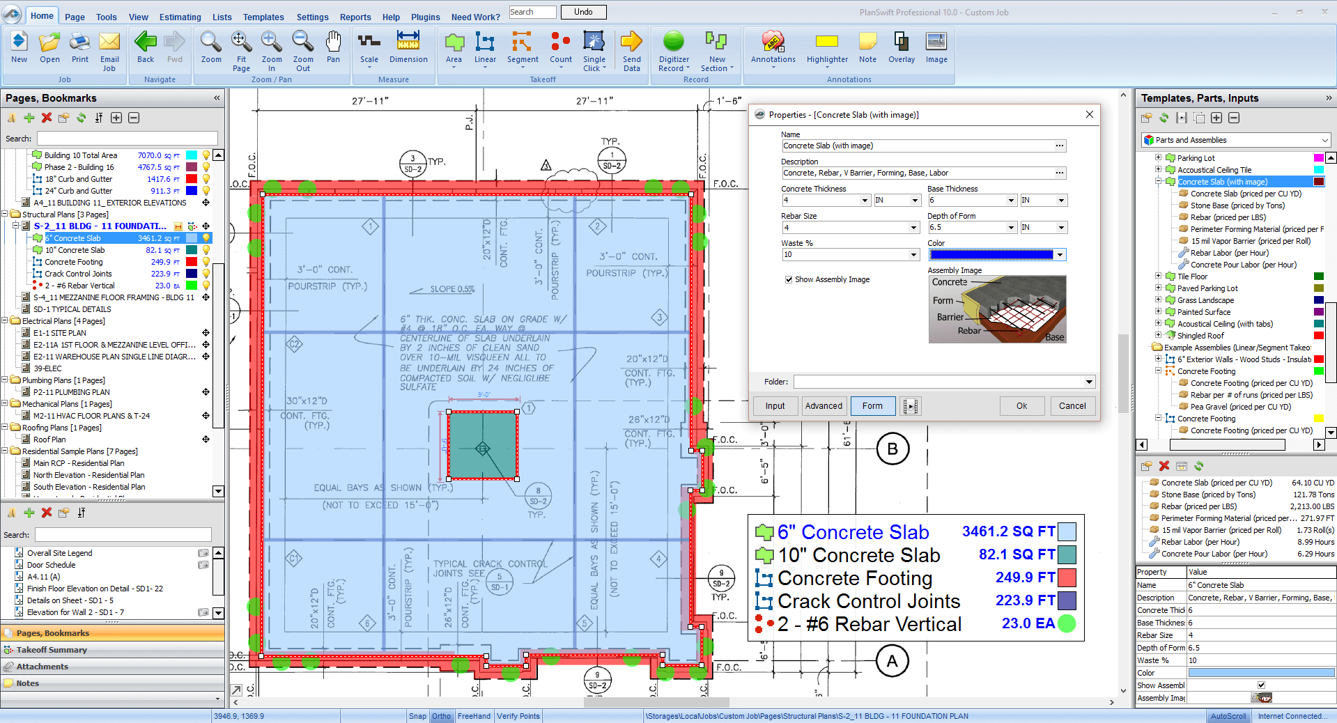 Concrete Takeoff And Estimating The Smart Way Click This Thumbnail For A Full Screen Screenshot