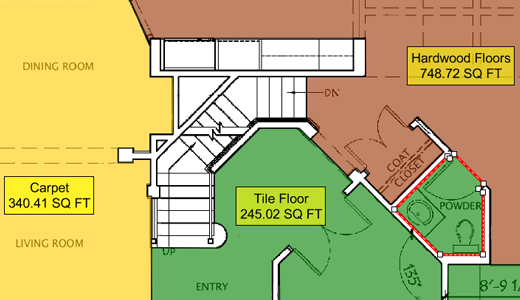 Example of Flooring Estimating
