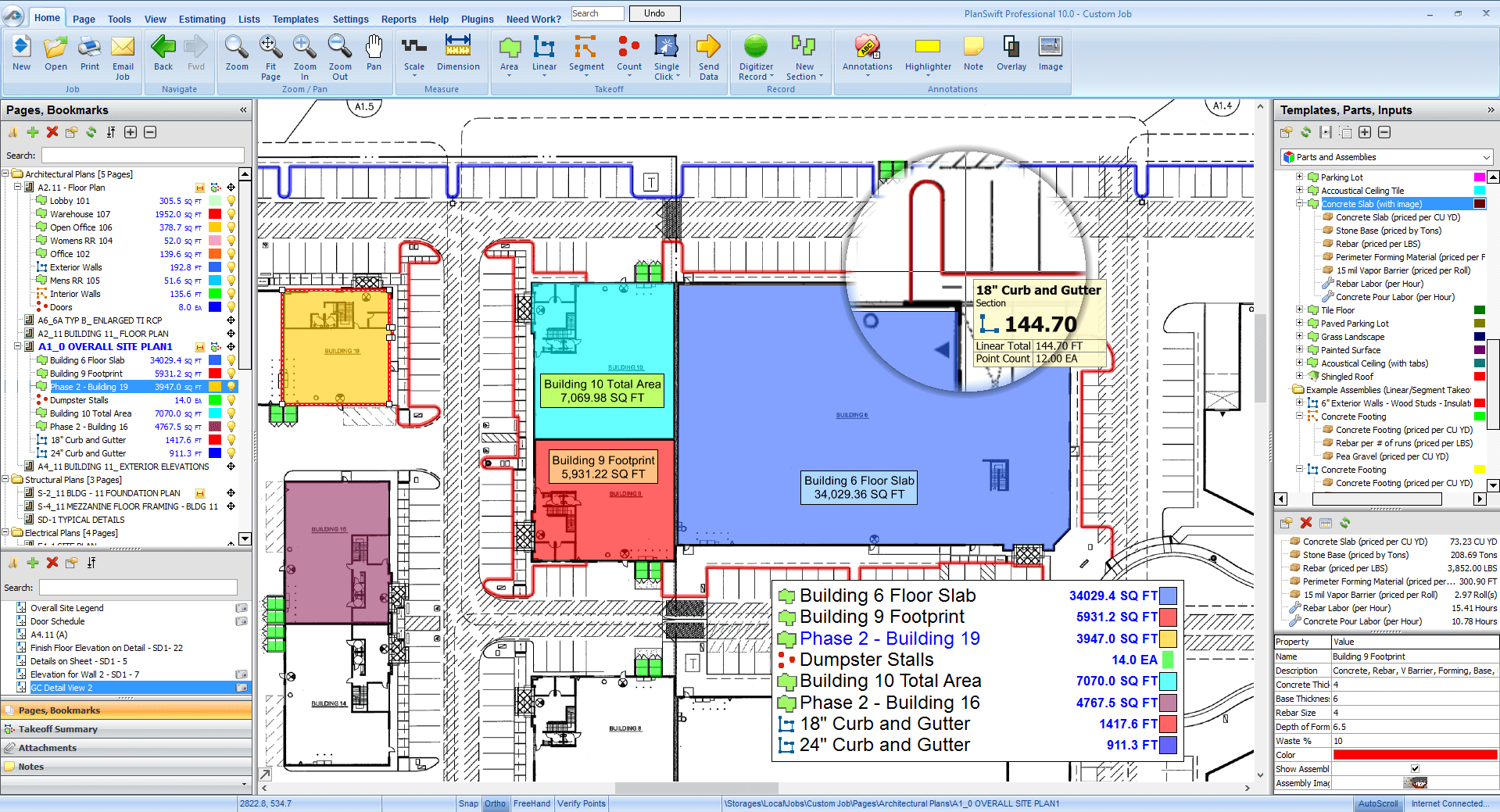 General contractors takeoff and estimating software Software for house construction plan