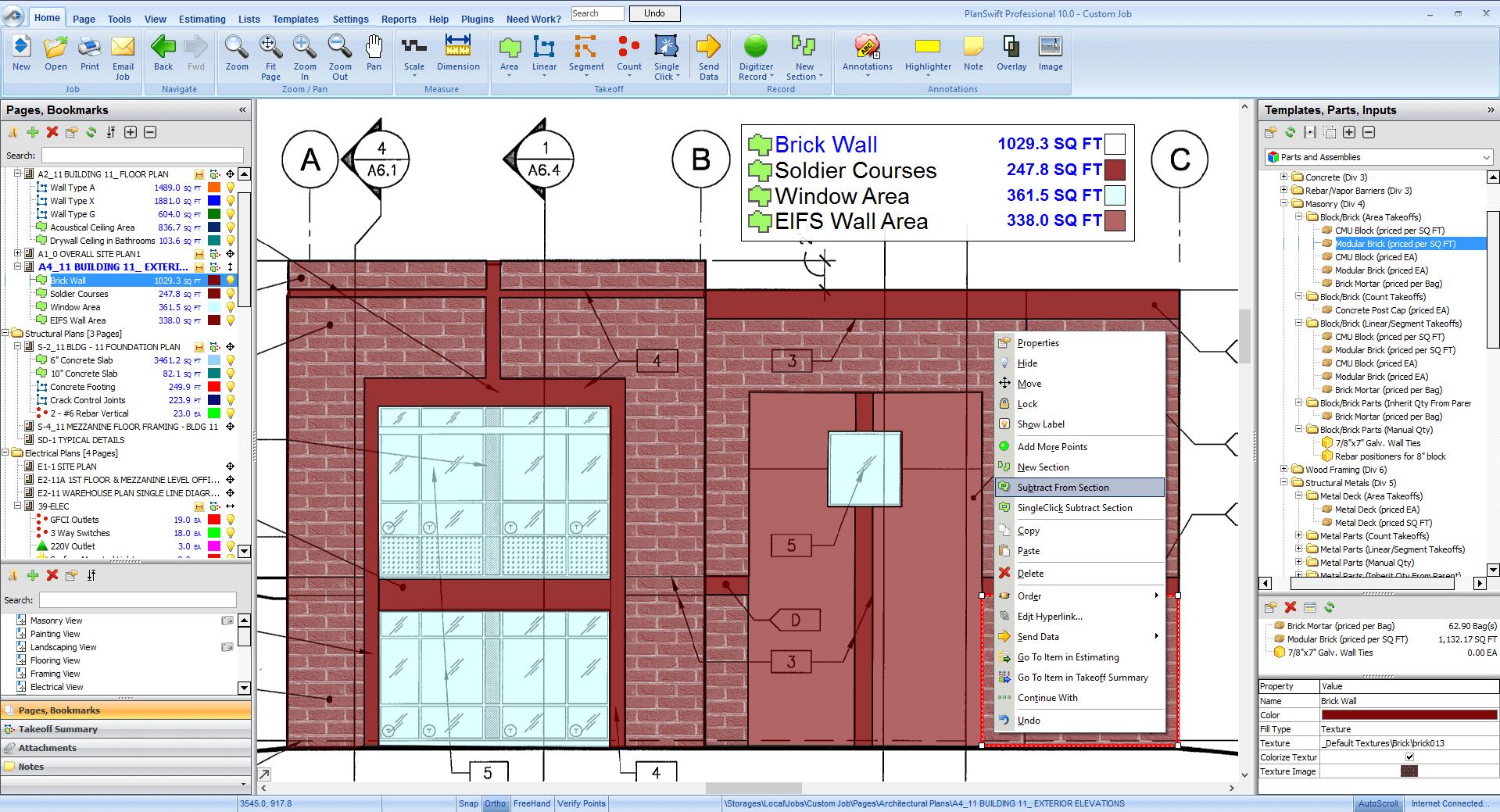 Masonry estimating software planswift masonry estimating software malvernweather Images
