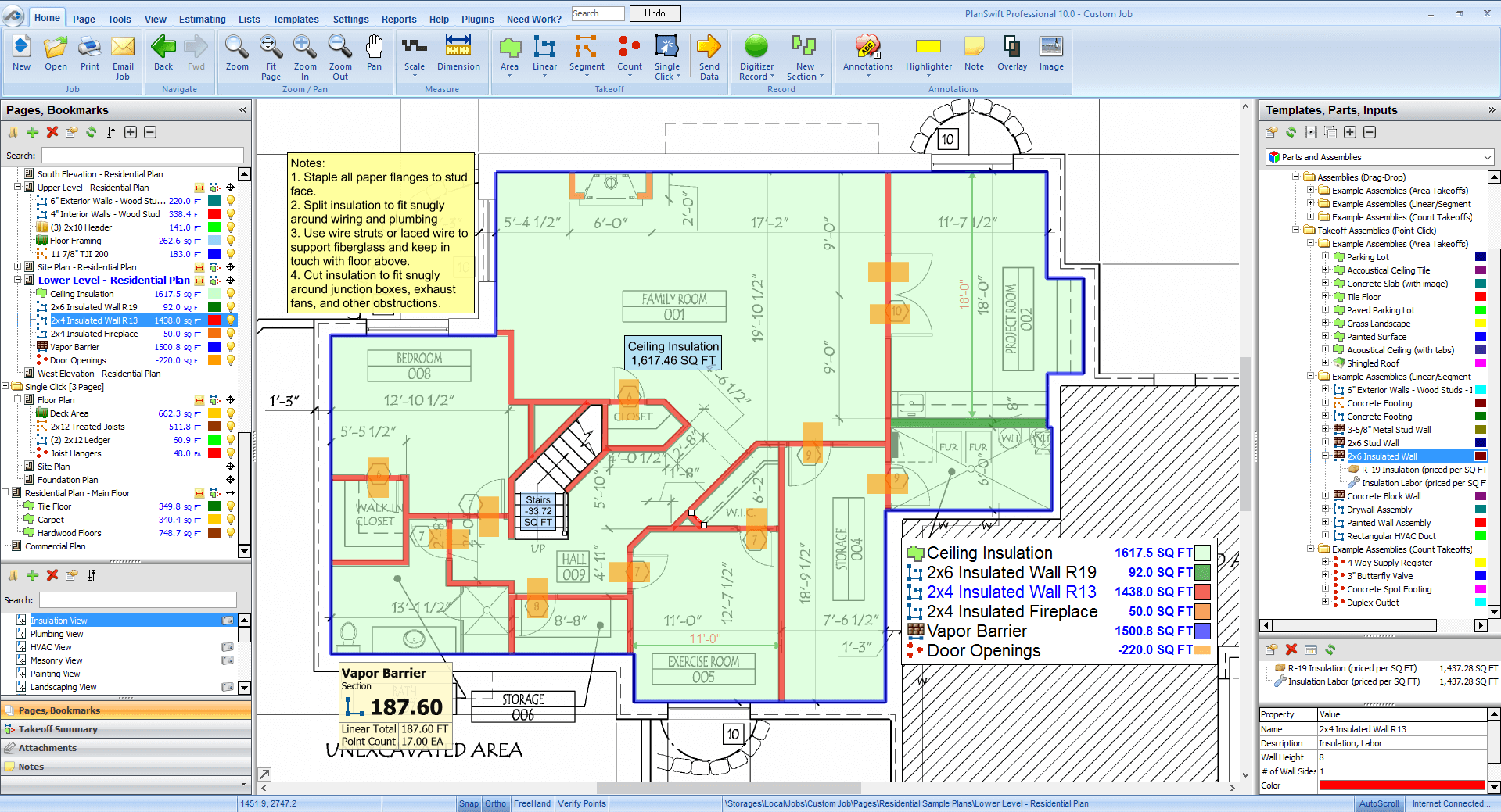 Insulation Estimating Software Planswift