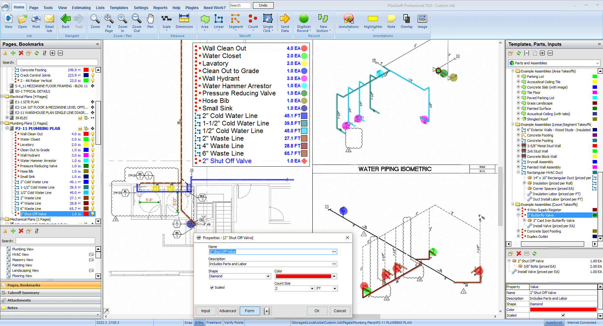 Plumbing estimating software planswift plumbing takeoff and estimating quickly and easily click this thumbnail to see the full screenshot malvernweather Images