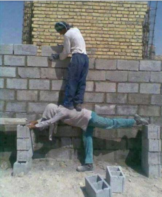 Image result for stupid worker pics