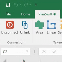 PlanSwift Tab in Excel